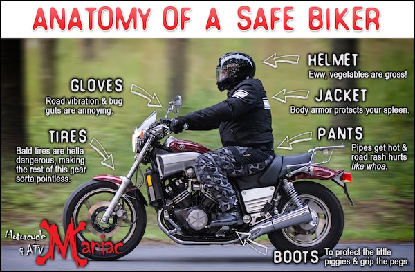 Riding a motorcycle can be a fun hobby and fuel-efficient way to travel. However, if riders aren't keeping their own safety in mind, their ride might be over sooner than expected.