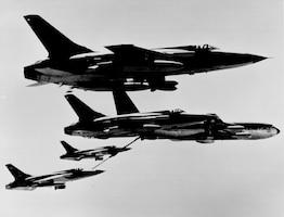 F-105 midair refueling (Courtesy photo)