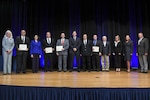 DLA's awardees at the DoD Value Engineering Achievement Awards ceremony, at the Pentagon, Arlington, Virginia, July 18, 2017. (Photo by Zane Ecklund)