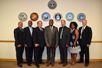 Members of the Defense Contract Management Agency Garden City Quality Assurance group participated in a leadership training program for supervisors. The new program was designed to train supervisors on leadership principles with an emphasis on obtaining and implementing employee feedback. (From left) Charles Cabrera, Henry Stewart, John Clouse, Joseph Cox, Edward Breitkopf, Rosalyn Marks and Kevin Cooney. (DCMA photo by Justin Zaun)