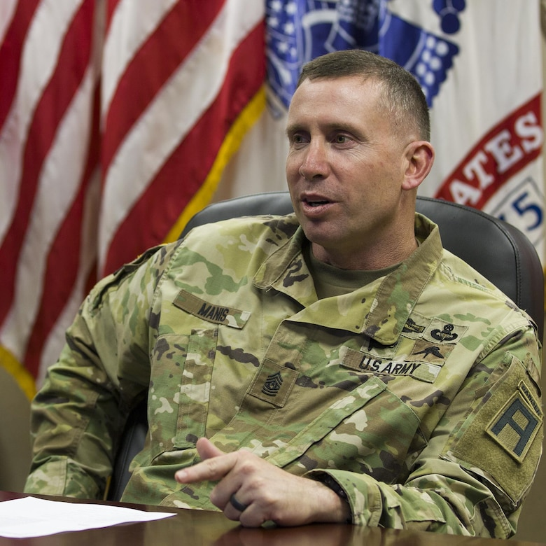 Command Sgt. Maj. Royce Manis, pictured above, the command sergeant major ofFirst Army Division East, recently attended the Battalion and Brigade Pre-Command Course taught by the Combined Arms Center's Center for CommandPreparation at Fort Leavenworth, Kan. The class focuses on Reserve specific issues new leaders could face. (Courtesy photo)  (Photo Credit: Courtesy photo)
