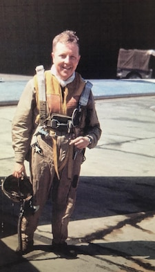 Col Robert Kirtley enjoys a soft drink as a young Captain on a flight line. He was born July 26, 1917 in Spartanburg, South Carolina. He is a WWII and Korean War veteran who served in the Air Force for more than 25 years. He graduated from Wofford College, and commissioned as a 2nd Lieutenant in 1940. His first assignment was with the 27th Pursuit Squadron, First Pursuit Group, at Selfridge Field, Michigan.