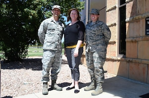 Maj. (Dr.) Robert Seals, 21st Medical Squadron clinical psychologist, Marnie Hebert, 21 MDS Mental Health technician and Staff Sgt. Jeannie Hackett, 21 MDS Mental Health clinic NCO in charge, speak on the importance of seeking help at Schriever Air Force Base, Colorado, Monday, July 24, 2017. The Schriever Mental Health clinic provides a number of services to Airmen to ensure their mental well-being. (U.S. Air Force photo/Senior Airman Arielle Vasquez)