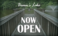Brown's Lake at Joint Base Langley-Eustis, closed nearly 40 years ago due to contamination, has re-opened for recreational catch-and-release fishing. For more information on the program or to obtain a fishing permit, contact Outdoor Recreation at 878-2610. For a Virginia fishing license, contact the Department of Game Inland Fisheries at https://www.dgif.virginia.gov/licenses. (U.S. Air Force graphic/Staff Sgt. Teresa J. Cleveland)