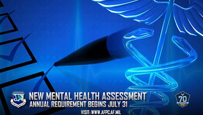 New annual Mental Health Assessment requirement begins July 31. (U.S. Air Force courtesy graphic)
