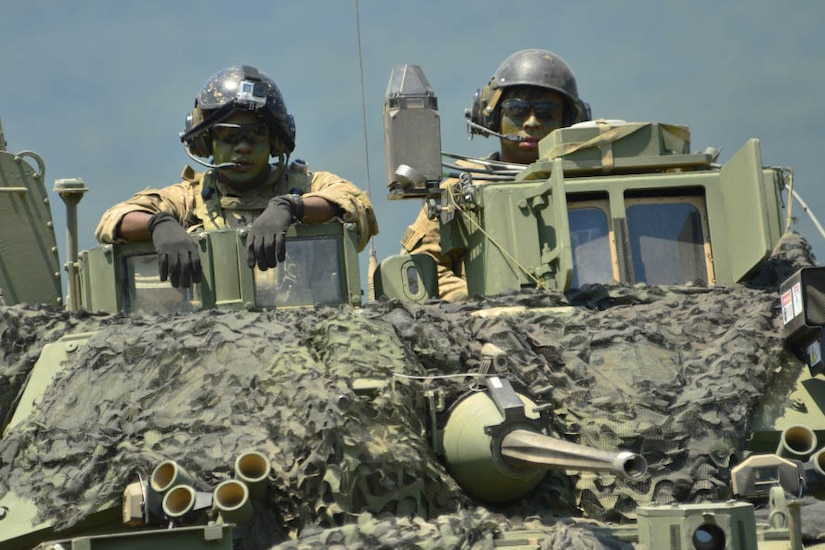 Army engineers participate in the Eagle Sentinel 17 exercise at Novo Selo Training Area, Bulgaria, July 12, 2017. Eagle Sentinel is a multinational training exercise that consists of armor, aviation and light infantry forces. Eagle Sentinel is linked to Saber Guardian 17, a U.S. Army Europe-led, multinational exercise that spans across Bulgaria, Hungary and Romania with more than 25,000 service members from 22 allied and partner nations. Army photo by Capt. Leslie Reed