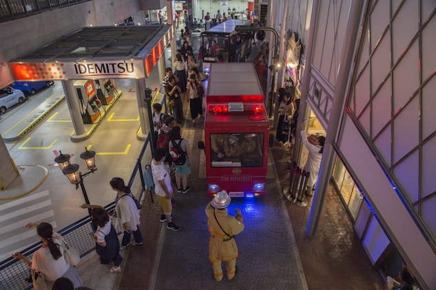 Guests bustle around Kidzania in Kobe, Japan, July 26, 2017. Kidzania is themed as a child-sized replica of a real city including buildings, shops and theaters, as well as vehicles and pedestrians moving along its streets. Marine Corps Air Station Iwakuni residents visited the theme park as part of a Youth and Teen Center trip. (U.S. Marine Corps photo by Lance Cpl. Carlos Jimenez)