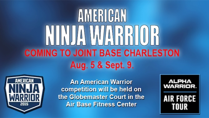 "An American Warrior competition will be held on the Globemaster Court in the Air Base Fitness Center Aug. 5 and Sept. 9. The American Warrior competition takes place on a functional fitness-based obstacle course similar to the courses seen on the NBC television show, ""American Ninja Warrior."" The course will be installed on the Globemaster Court at the air base fitness center. (U.S. Air Force Graphic / Michael Dukes)"