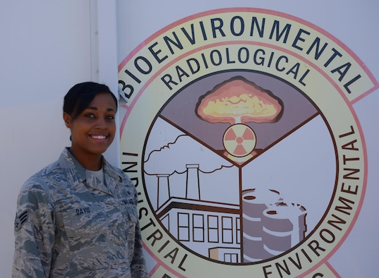 Senior Airman Ashley Davis, 9th Medical Group bioenvironmental engineering technician, poses for a photo July 27, 2017, at Beale Air Force Base, California. (U.S. Air Force photo/Airman 1st Class Tommy Wilbourn)