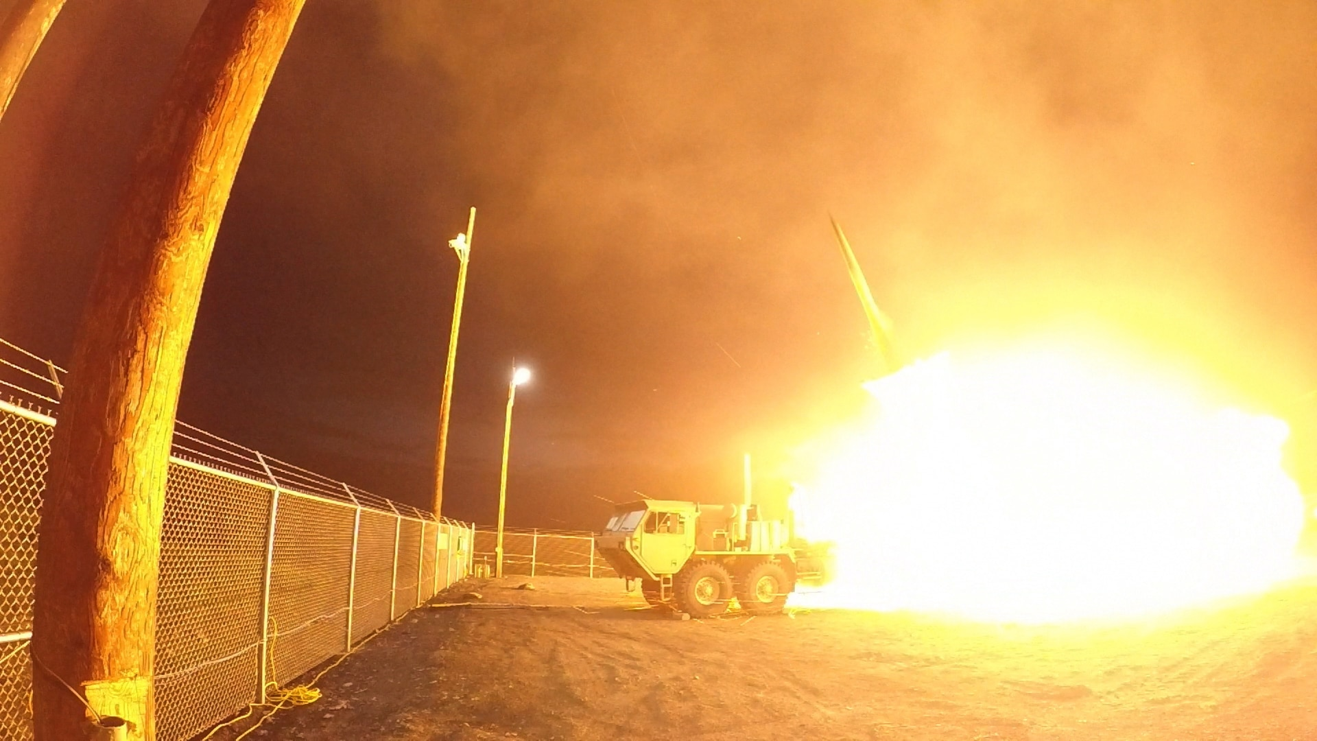 A Terminal High Altitude Area Defense (THAAD) interceptor is launched from the Pacific Spaceport Complex Alaska in Kodiak, Alaska, during Flight Experiment THAAD (FET)-01 on July 30, 2017 (EDT). During the test, the THAAD weapon system successfully intercepted an air-launched, medium-range ballistic missile (MRBM) target.
