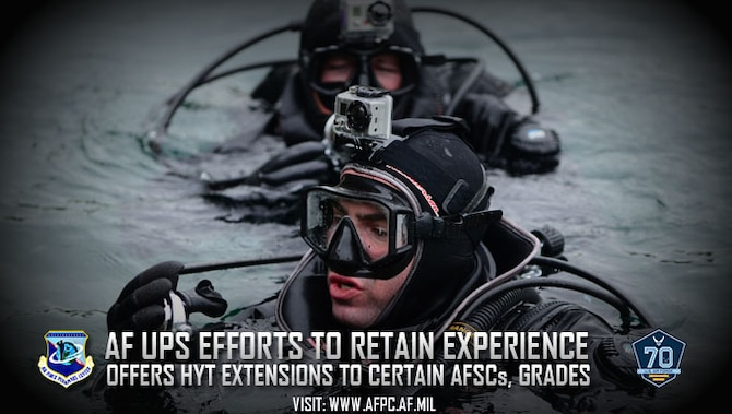 High year of tenure extensions are available starting Aug. 1 to Airmen in shortage specialties and grades, such as special operations, in order to retain experience and enhance mission effectiveness. Airmen must have a HYT date of Oct. 1, 2017, through Sept. 30, 2018, for program eligibility. (U.S. Air Force photo by Senior Airman Lausanne Morgan)