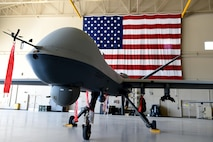An MQ-9 Reaper stands ready to provide warfighters with persistent attack and reconnaissance to the U.S. and joint coalition partners. (U.S. Air Force photo/Airman First Class Adarius Petty)