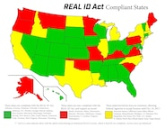 Please see above graphic detailing updates to Real ID Act. (Graphic courtesy of Mr. Glenn Robertson)