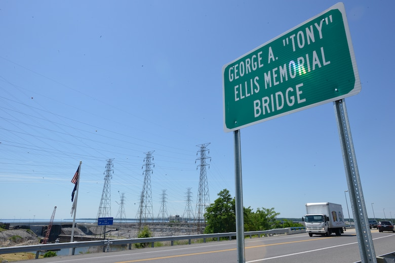 The US Highway 62 Bridge across the Tennessee River below Kentucky Dam has been re-named in memory and in honor of former U.S. Army Corps of Engineers Kentucky Lock resident engineer George A. (Tony) Ellis in a brief ceremony May 30, 2017.