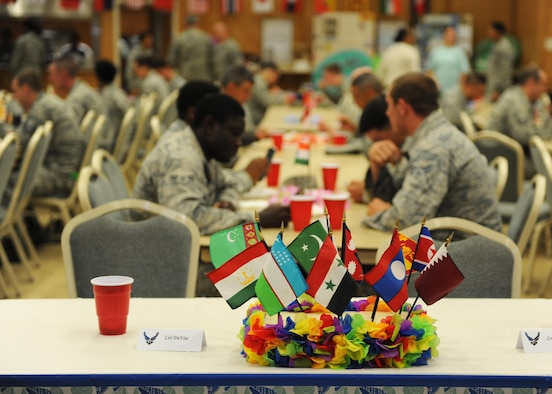 Team Little Rock members celebrate American Asian and Pacific Islander Month during a luncheon May 26, 2017, at the Walter's Community Support Center on Little Rock Air Force Base, Ark. The event educated and highlighted Asian American and Pacific Islander heritage. (U.S. Air Force photo by Airman 1st Class Grace Nichols)