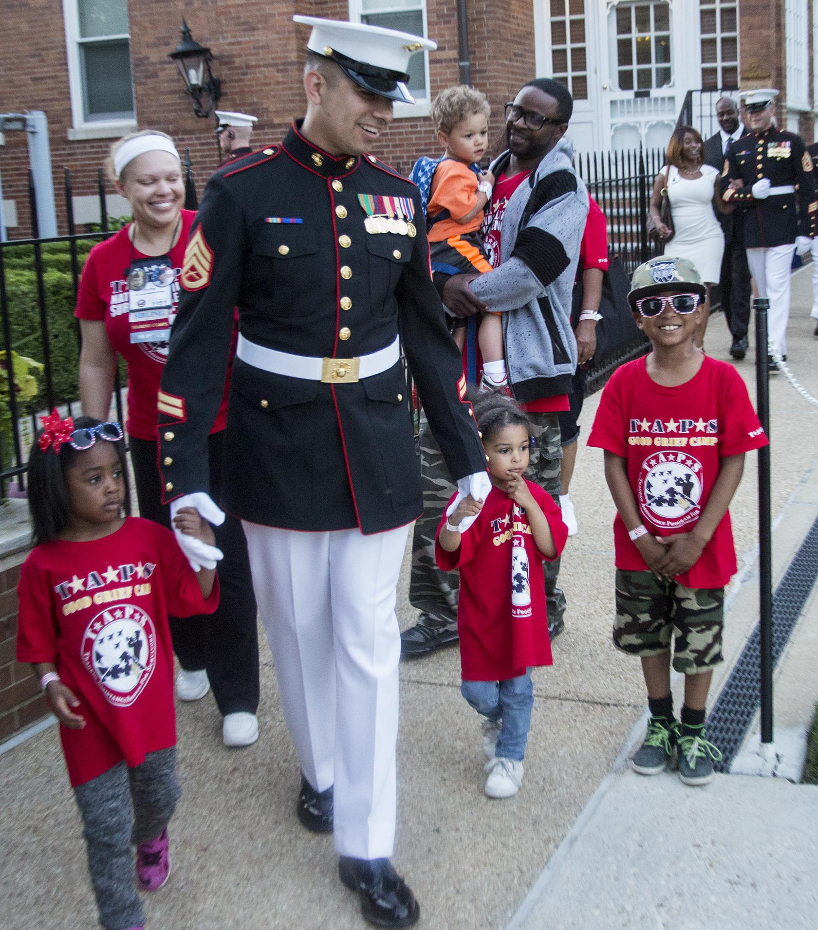 Staff Sgt Jose A Guerra Parade Host Escorts Families To Their Seats