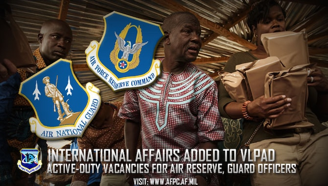 The Air Force Voluntary Limited Period of Active Duty program has added two international affairs specialties to the 2017 listing of opportunities. VLPAD gives certain Reserve and Guard Airmen the chance to serve on active duty for three years and one day while receiving active-duty benefits in order to meet increased Air Force mission requirements. (U.S. Air Force photo by Staff Sgt. Jonathan Snyder)