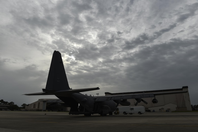 Loadmasters with the 15th Special Operations Squadron secure cargo pallets on an MC-130H Combat Talon II at Hurlburt Field, Fla., May 30, 2017. The Combat Talon II provides infiltration, exfiltration, and resupply of special operations forces and equipment in hostile or denied territory anytime, anyplace. (U.S. Air Force photo by Airman 1st Class Joseph Pick)
