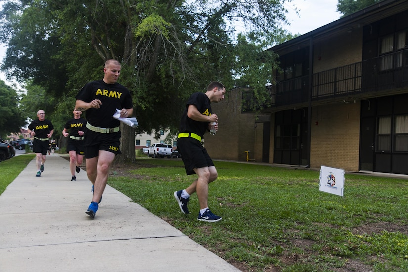 Soldiers, civilians and families at the U.S. Army Reserve Command headquarters at Fort Bragg, N.C., participate in an urban-orienteering event, June 2, 2017. The event was designed to promote individual and unit readiness by ensuring everybody stays physically fit, enhance team cohesion and improve spirit de corps. Orienteering is a competitive form of land navigation. It combines map reading, terrain study, strategy, competition and exercise. (U.S. Army Reserve photo by Sgt. Stephanie Ramirez)