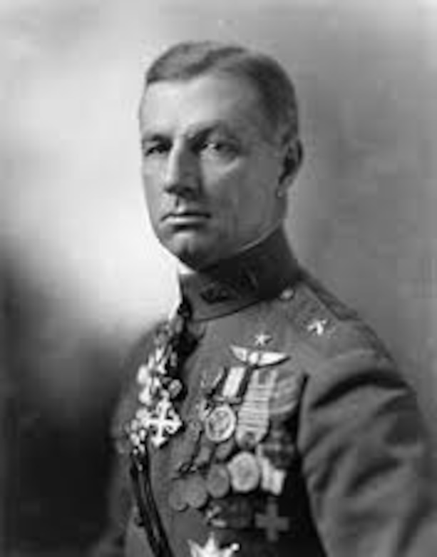 "Brig. Gen. William ""Billy"" Mitchell in the early 1920s. Mitchell was a vocal advocate for American airpower and the considered ""father of the U.S. Air Force."" He predicted the rise of naval airpower and the vulnerability of warships to air attack. (Courtesy photo)"