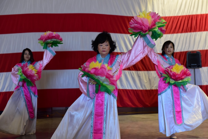 The Asian Pacific American Heritage Association hosted a capstone event to close out the Asian American Pacific Islander Heritage Month at Whiteman Air Force Base, Mo., May 25, 2017. The event included various food tastings, jiujitsu and dance demonstra­tions, and a static cultural display.