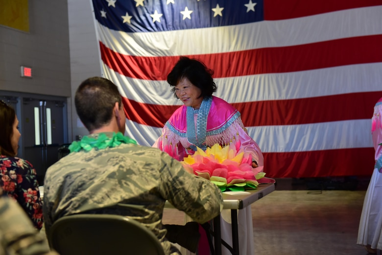 The Asian Pacific American Heritage Association hosted a capstone event to close out the Asian American Pacific Islander Heritage Month at Whiteman Air Force Base, Mo., May 25, 2017. The event included various food tastings, jiujitsu and dance demonstrations, and a static cultural display.