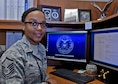 Master Sgt. Latonya J. June at her desk with the 117th Intelligence Squadron. June is the 2016 winner of the Alabama National Guard's Outstanding Woman of the Year award. (U.S. Air National Guard photo by: Airman 1st Class Lee Murphy)