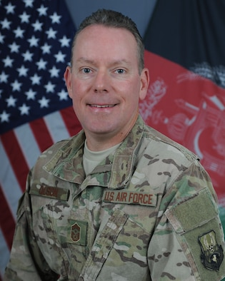CMSgt. Cory Olson, 455 AEW command chief