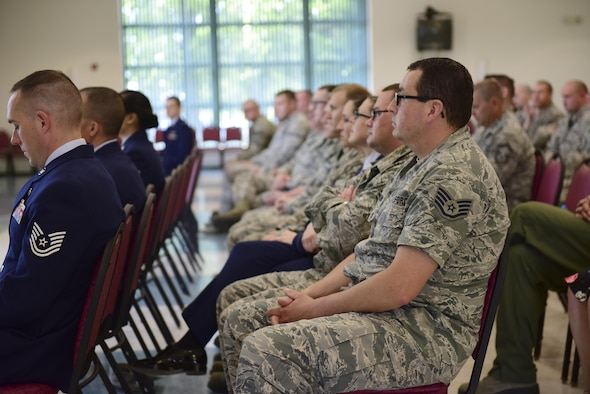 Airmen of the 109th Airlift Wing were recognized during the first Non-Commissioned Officer induction ceremony held at Stratton Air National Guard Base, Scotia, New York on June 3, 2017.  The induction ceremony recognizes Airmen who were promoted to staff sergeant between May 1, 2016 and May 15, 2017.  (U.S. Air National Guard photo by Staff Sgt. Benjamin German/Released)