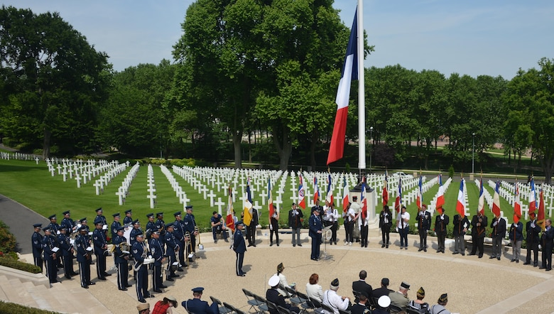 U.S. Air Force Gen Tod D. Wolters, U.S. Air Forces in Europe - Air Forces Africa commander, speaks at a Memorial Day ceremony at Suresnes American Cemetery, Suresnes, France, May 28, 2017. This Memorial Day is especially signifcant because 2017 marks the centennial of United States' entry into the First World War. (U.S. Air Force photo by Capt. Ben Sowers/Released)