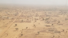 Vast expanses such as this Nigerien settlement area require a grid system to effectively survey. The site surveyed by U.S. Army Corps of Engineers Archaeologist Amy Williams and U.S. Air Force Civil Engineer Center Archaeologist Dr. James Wilde was more than 1000 acres.
