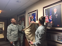 On Friday June 2, Major General Roosevelt Allen, Jr. attended an unveiling of his portrait that will hang in the executive hallway of the 79th Medical Wing on Joint Base Andrews. (Photo by Melanie Moore)(Released)