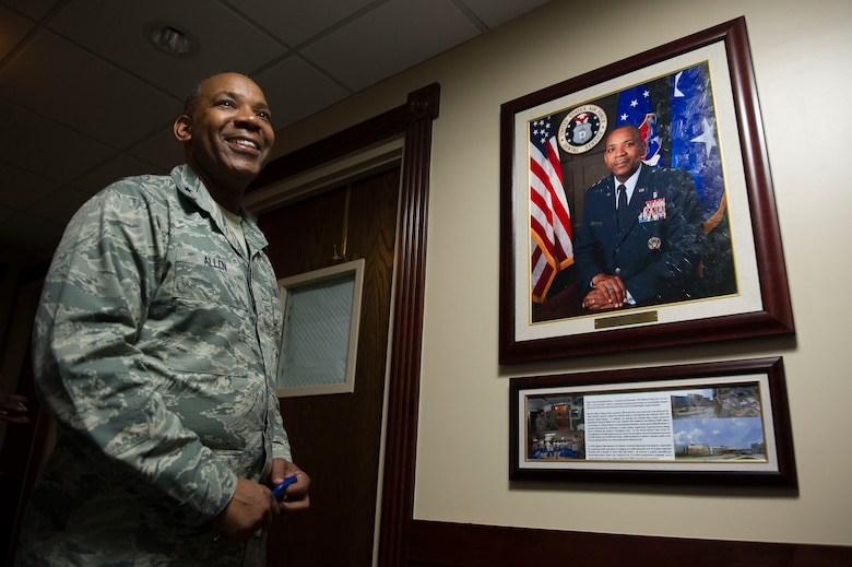 Maj. Gen. Roosevelt Allen Jr. unveils his portrait as former 79th Medical Wing Commander on Joint Base Andrews June 2, 2017. (Photo by Senior Master Sgt. Adrian Cadiz)(Released)