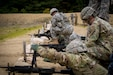 Drill sergeants from the 1st Battalion, 304th Infantry Regiment load crew-served and automatic weapons on a familiarization range at Fort Devens, MA June 3, 2017.