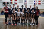 U.S. Armed Forces Team before their match against Canada during the 18th Conseil International du Sport Militaire (CISM) World Women's Military Volleyball Championship at Naval Station Mayport, Florida on 5 June 2017. Mayport is hosting the CISM Championship from 2-11 June.  Finals are on 9 June. 