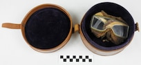 Case for goggles, aviator's, used by Coast Guard Warrant Officer Cadmus Daniel Griffin, WWI.