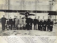 Photograph of WWI aviators including Cadmus Griffin.
