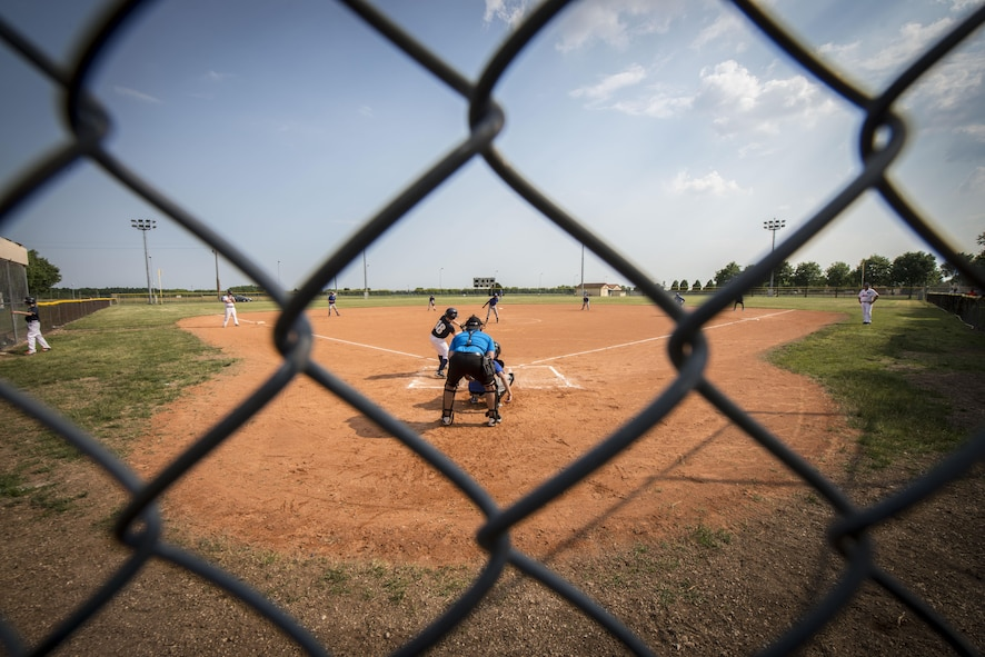 The Aviano Tigerz and Junior Alpina baseball teams play baseball June 3, 2017, at Aviano Air Base, Italy. Over the past 172 years, baseball has expanded beyond the United States of America and is played from field to field in over 50 different countries. (U.S. Air Force photo by Senior Airman Cory W. Bush)