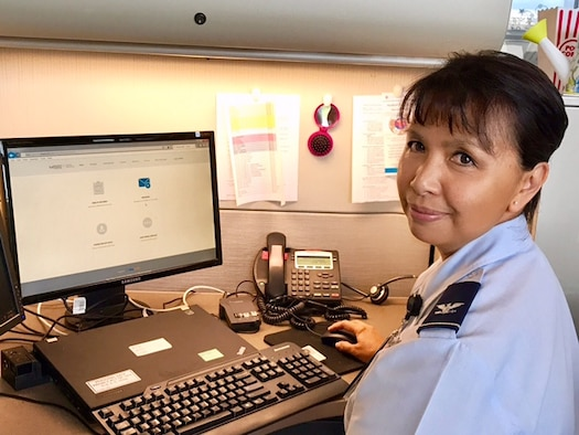 Col. Maria Marcangelo, chief of the Clinical Operations Division at the Air Force Medical Operations Agency, and a cancer survivor. Marcangelo attributes the TRICARE Online Patient Portal Secure Messaging system with helping her stay connected with her primary care team before, during and after her cancer treatment.