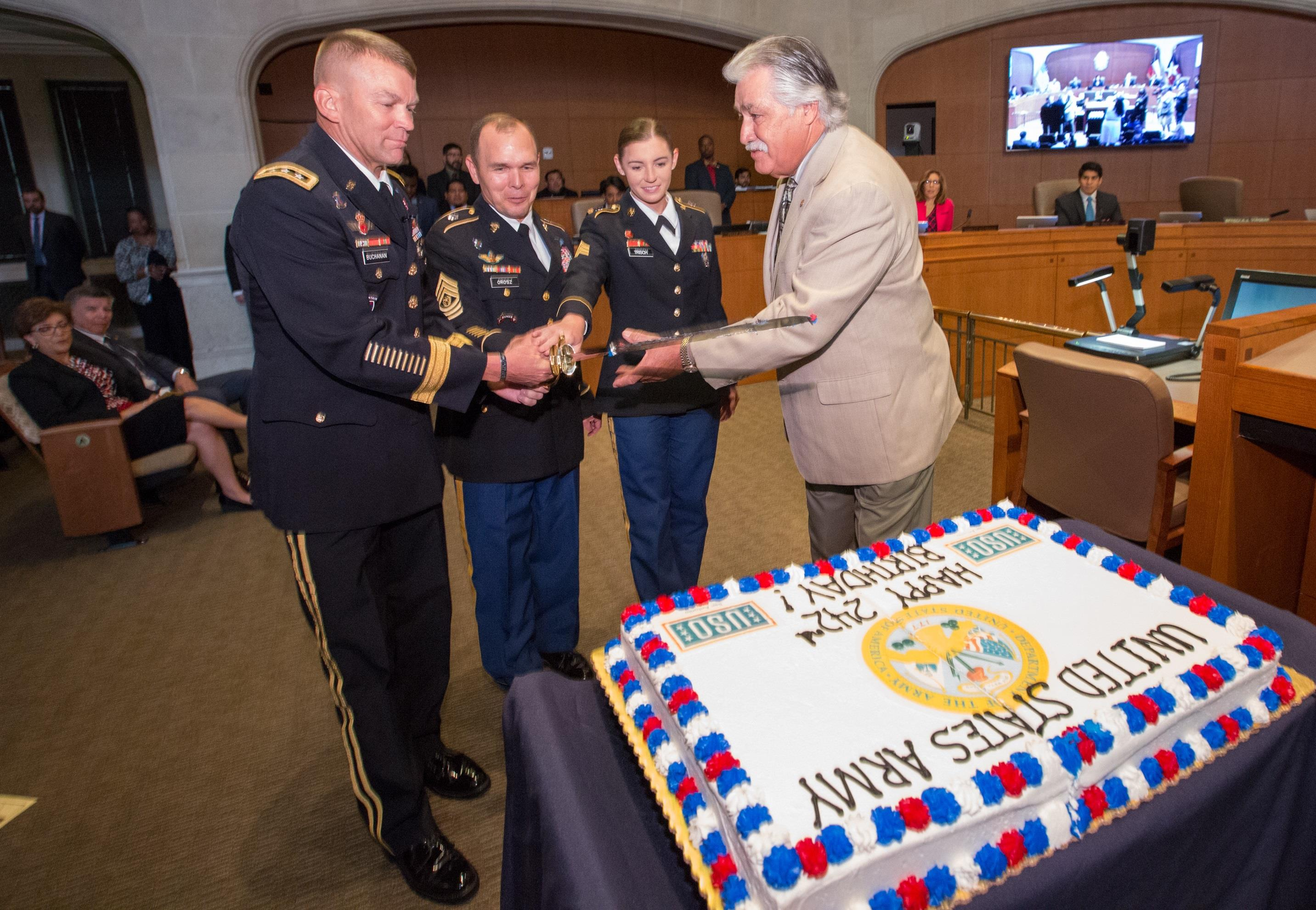 Army North celebrates 242nd Army birthday with City Hall ceremony