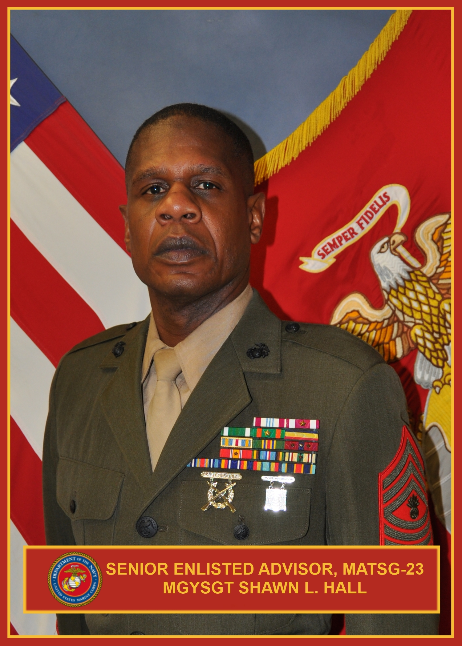 master gunnery sergeant shawn hall training command leaders view