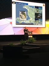 SAN ANTONIO, Texas (June 7, 2017) -- Adm. Kurt W. Tidd, commander of U.S. Southern Command, gives the keynote address at the GEOINT 2017 Symposium in San Antonio, Texas. (Photo courtesy GEOINT 2017 Symposium)