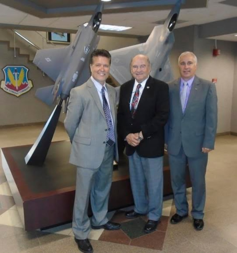 Members of the Military Affairs Committee pose for a photo at Air Combat Command Headquarters, Langley Air Force Base, Va. MAC members take an annual trip to advocate on behalf of Mountain Home AFB and the Air Force in general. (Courtesy Photo)