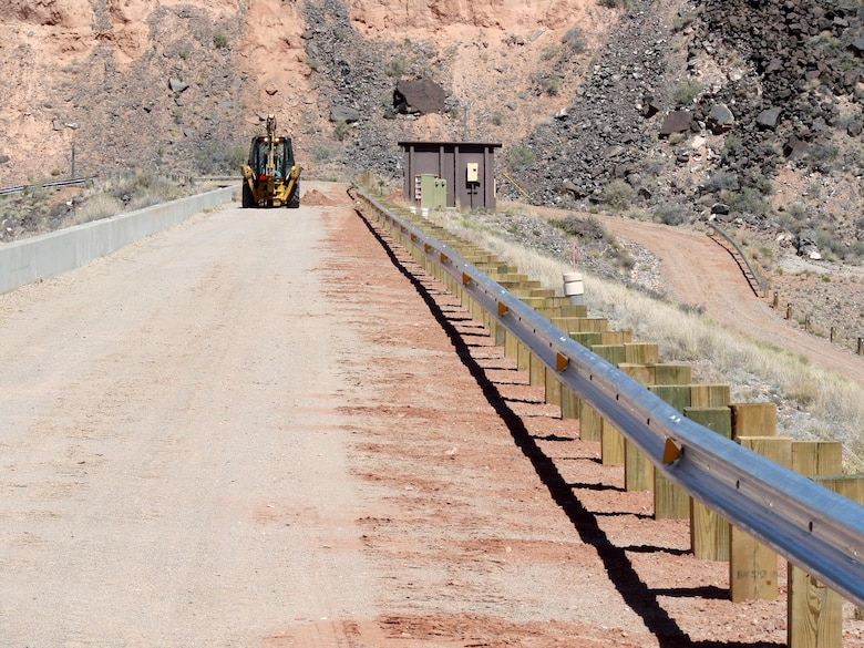 JEMEZ DAM, N.M. – The guardrail posts along the Jemez Dam access road were replaced to meet N.M. Dept. of Transportation guidelines.