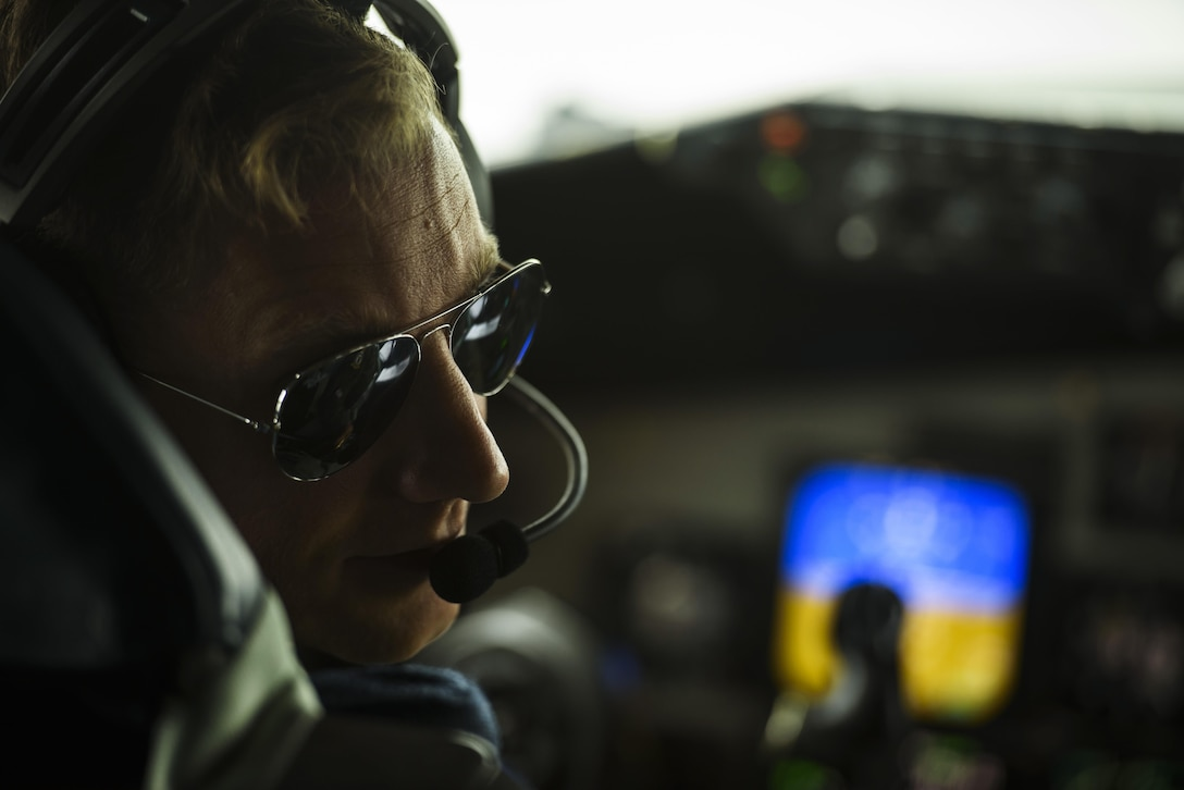 Capt. Donald Hart, 351st Air Refueling Squadron pilot, talks with the crew prior to taxiing a KC-135R Stratotanker during BALTOPS exercise at Powidz Air Base, Poland, June 7, 2017. The U.S. Air Force is supporting this exercise with approximately 900 Airmen, eight F-16s from the 31st Fighter Wing, Aviano Air Base, Italy, four KC-135 Stratotankers from the 100th Air Refueling Wing, RAF Mildenhall, U.S. Air Force Reserve 459th Air Refueling Wing, Joint Base Andrews, Maryland, one Air Force Reserve E-3 Airborne Warning and Control System (AWACS) from the 513th Aerial Control Group, B-52s from RAF Fairford, Tinker Air Force Base, Oklahoma and Airmen from the 1st Combat Communication Squadron, Ramstein Air Base, Germany are supporting this multinational exercise. (U.S. Air Force photo by Staff Sgt. Jonathan Snyder)