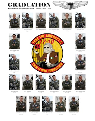 All Laughlin members are invited to attend Specialized Undergraduate Pilot Training Class 17-10's graduation ceremony June 9, at 10 a.m. in Anderson Hall, here. Col Brian Runkle, 47th Operations Group commander, will be the guest speaker, and awards will be given to stand-out members of the class. Laughlin graduates more than 300 pilots annually.