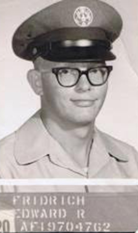 """Pictured is Edward """"Fred"""" Fridrich when he joined the Air Force in 1961."""