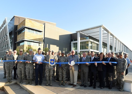 The 59th Medical Wing's new Wilford Hall Ambulatory Surgical Center officially opened with a ribbon cutting today, June 7, on Joint Base San Antonio-Lackland, Texas. The 59th MDW identified Master Sgt. Karrin Hatcher as it's first official patient to be seen in the $418 million, 682,000 square foot, state-of-the-art facility. Wilford Hall is the U.S. Air Force's flagship medical facility for outpatient care. The building features four wings, on four floors, housing more than 25 outpatient clinic and clinical services.