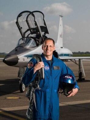 2017 NASA Astronaut Candidate - Bob Hines.  Photo Date: June 6, 2017.  Location: Ellington Field - Hangar 276, Tarmac.  Photographer: Robert Markowitz