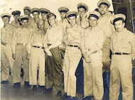 "The chief petty officers of the Coast Guard-manned USS Centauraus (AKA-17), somewhere in the South Pacific, circa 1944.  ""Tropical"" khaki uniforms. 